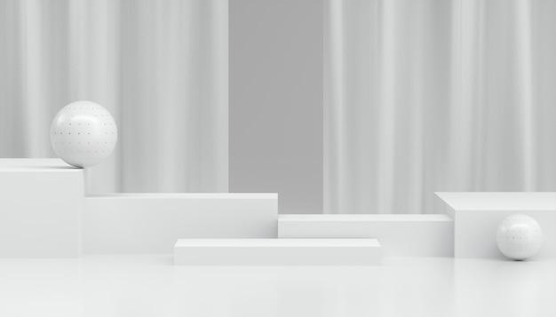 Abstracte minimale witte vitrine