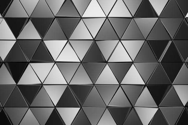 Abstracte muur van driehoek. 3d-weergave.