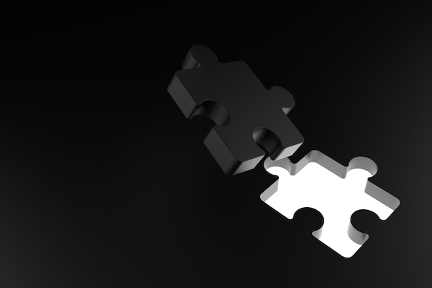 Abstracte muur van puzzel. 3d-weergave.