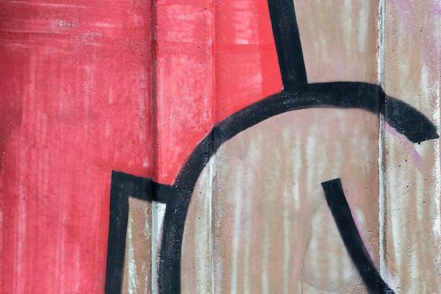 Abstracte muurschildering graffiti compositie