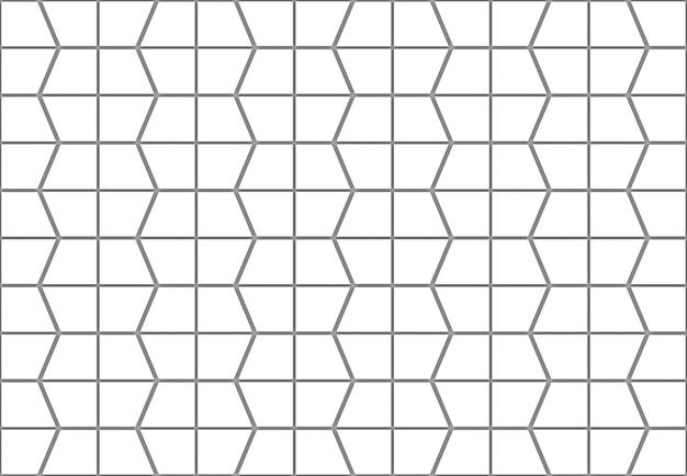 Abstracte naadloze witte trapezoïde patroon muur achtergrond