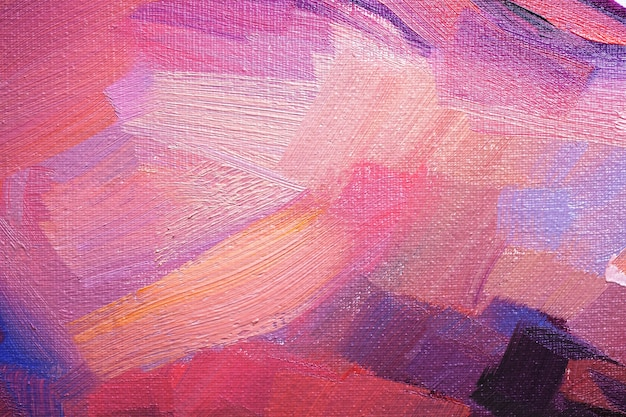 Abstracte olieverf textuur op canvas, achtergrond