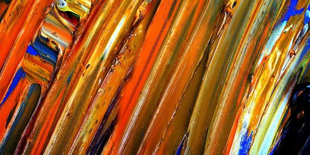 Abstracte olieverfschilderij close-up