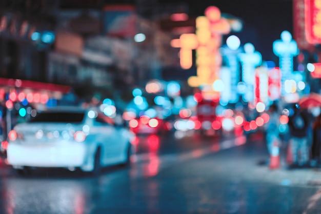 Abstracte onduidelijk beeld bokeh stad als achtergrond