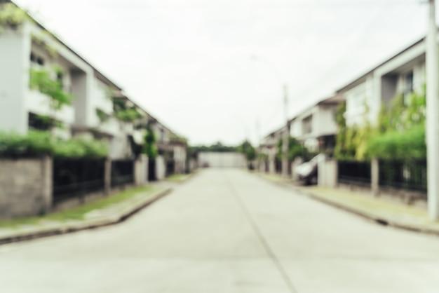 Abstracte onduidelijk beeldbuitenkanten van huisachtergrond