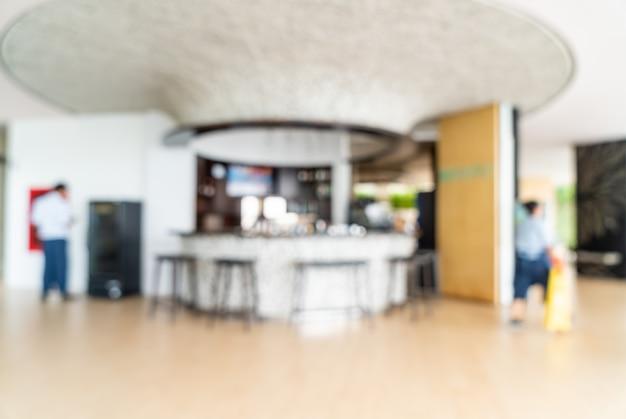 Abstracte onscherpte en intreepupil ontbijtbuffet in hotel restaurant interieur