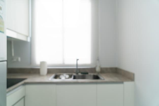 Abstracte onscherpte en onscherpe keuken voor