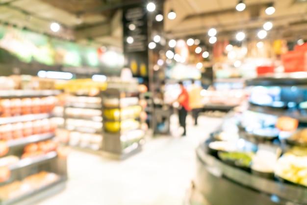 Abstracte onscherpte en onscherpe supermarkt voor achtergrond Premium Foto