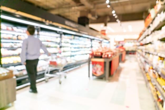 Abstracte onscherpte en onscherpe supermarkt voor achtergrond