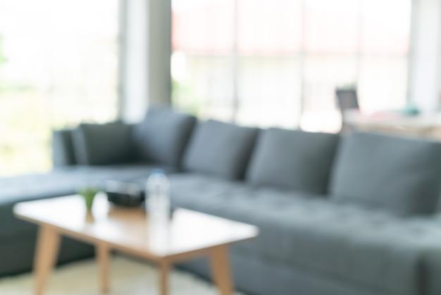 Abstracte onscherpte en onscherpe woonkamer voor achtergrond