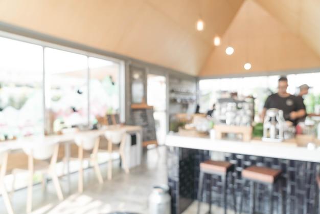 Abstracte onscherpte in café