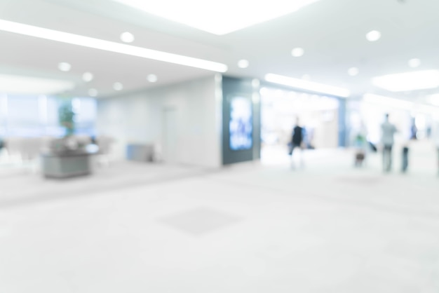 Abstracte onscherpte in de luchthaven