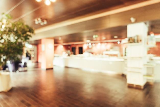 Abstracte onscherpte in restaurant