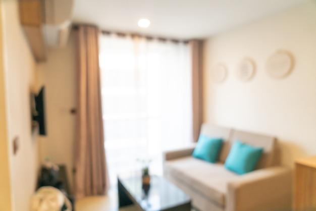 Abstracte onscherpte woonkamer voor backgorund