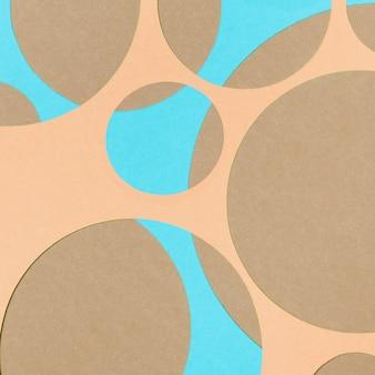 Abstracte ontwerp blauwe en bruine papieren achtergrond