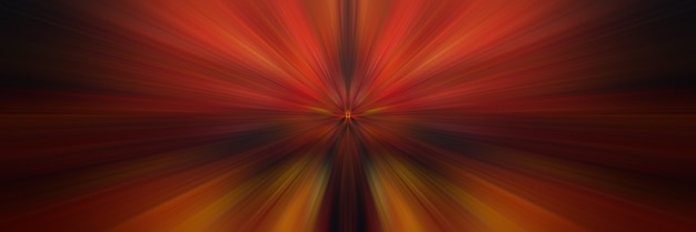 Abstracte oranje achtergrond. heldere lichtflits. lichtexplosie vanuit centraal punt.