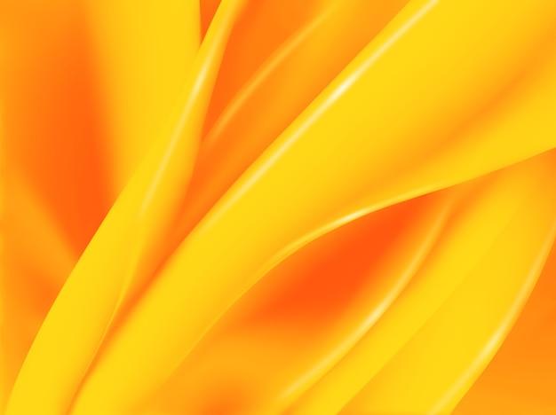 Abstracte oranje achtergrond met vloeiende lijnen