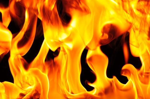 Abstracte oranje warme vuur brandwonden geïsoleerd