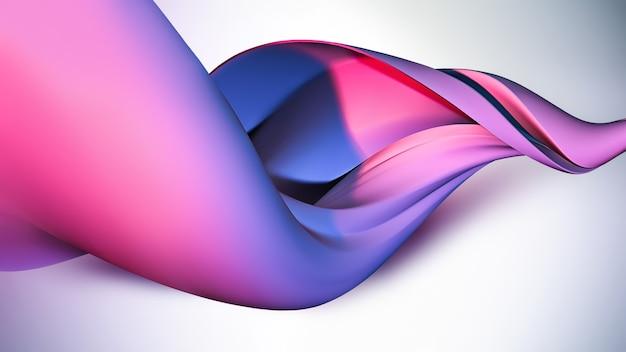 Abstracte paarse 3d-golf als achtergrond
