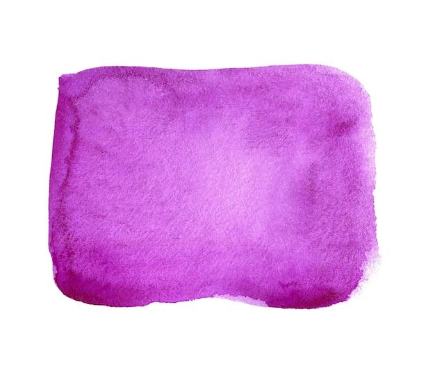 Abstracte paarse aquarel achtergrond. hand getekende aquarel plek. violet artistiek ontwerpelement voor banner, sjabloon, print en logo