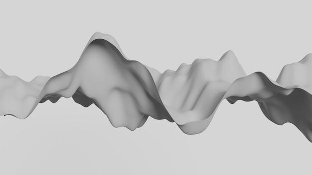 Abstracte papier kunst vloeiende golf