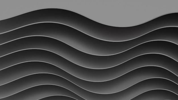 Abstracte papieren poster geweven met golvende lagen