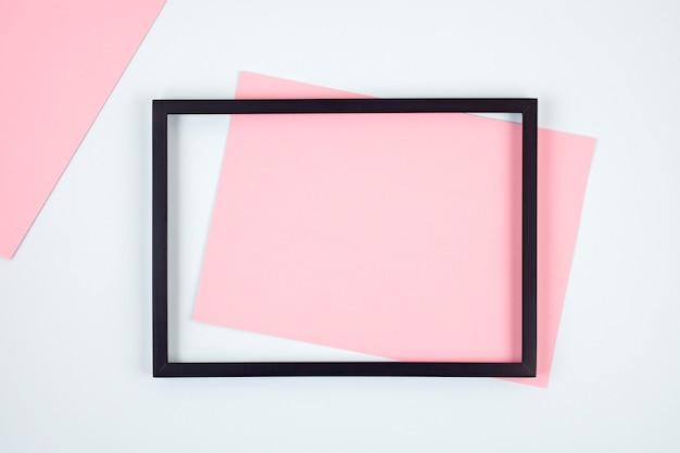 Abstracte pastel gekleurd papier textuur met lege frames
