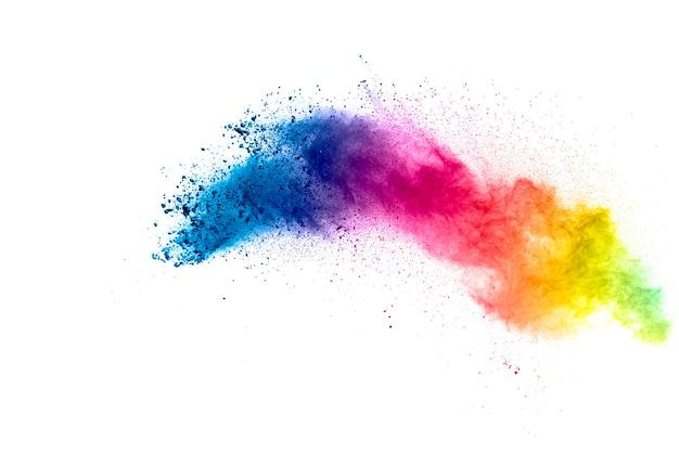Abstracte pastel kleur stofdeeltjes splash.