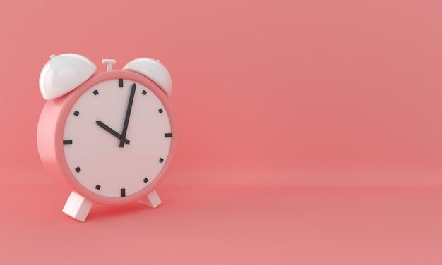 Abstracte pastel klok op roze achtergrond