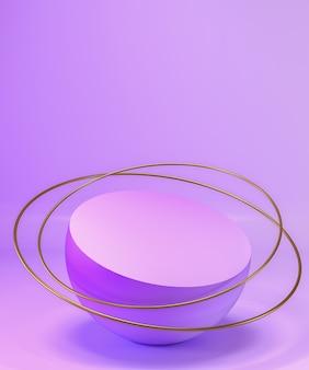 Abstracte pastel paarse kleur geometrische blanco productstandaard