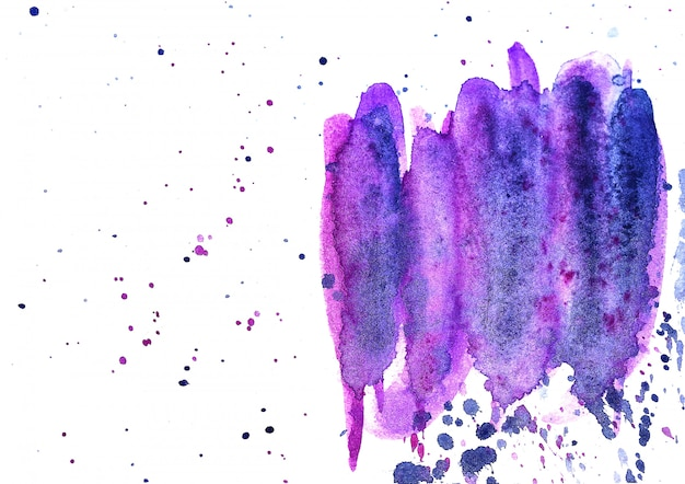 Abstracte penseelstreken en spatten van verf op papier. waterverftextuur voor creatieve achtergrond