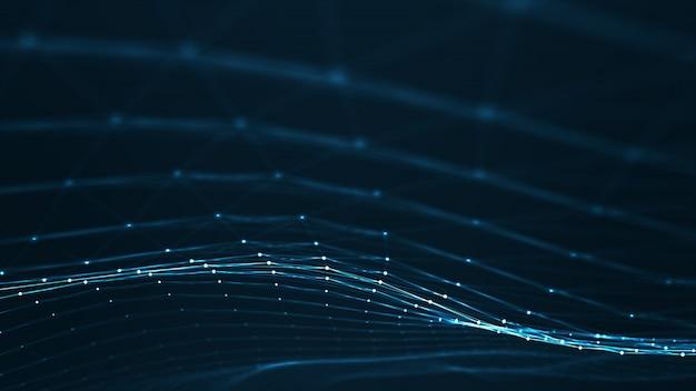 Abstracte plexus geometrische vormen. verbinding en webconcept.