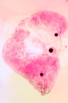 Abstracte plons met zwarte stippen