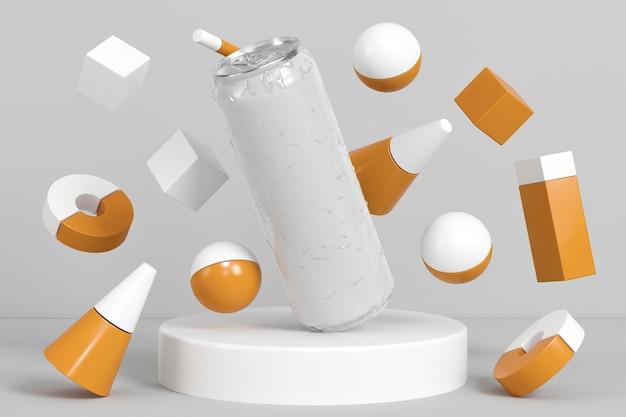 Abstracte pop-top frisdrankcontainer presentatie