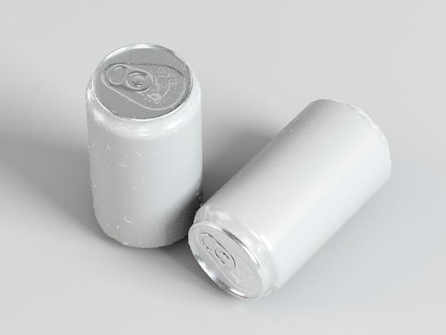Abstracte presentatie van aluminium frisdrankcontainers