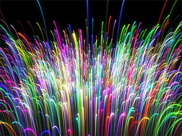 Abstracte regenboog kleurrijke vezels