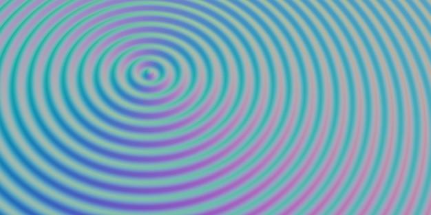 Abstracte rimpel cirkel golvende water cirkel glanzende zwaaien achtergrond 3d illustratie