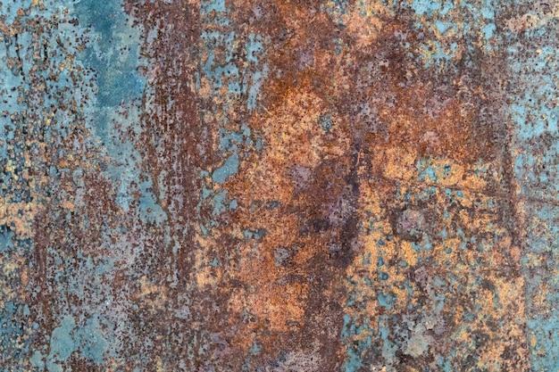 Abstracte roestige metalen textuur, roestige metalen achtergrond voor ontwerp met kopie ruimte voor tekst, afbeelding. onbeschermd tegen natte atmosferische invloeden van roestig metaal. roestige metalen textuur achtergrond.