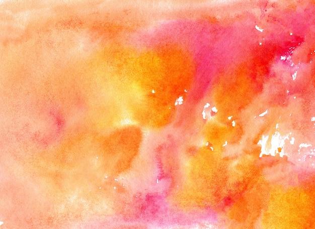 Abstracte roze oranje en rode aquarel papier getextureerde illustratie voor grunge ontwerp vintage kaartsjablonen aquarel mockup