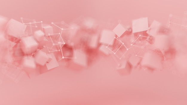 Abstracte roze paarse achtergrond, studio minimalisme deeltje. 3d-afbeelding, 3d-rendering.