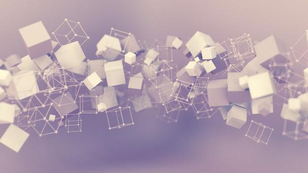 Abstracte roze paarse achtergrond, studio minimalisme deeltje. 3d illustratie, 3d-rendering.