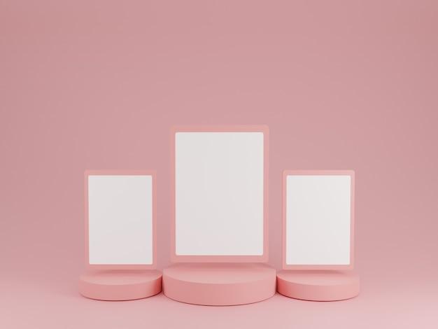 Abstracte roze textuur met geometrische vorm minimale mockup
