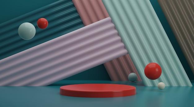 Abstracte scène als achtergrond voor productvertoning het 3d teruggeven.
