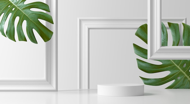 Abstracte scène. geometrie vorm podium achtergrond voor product