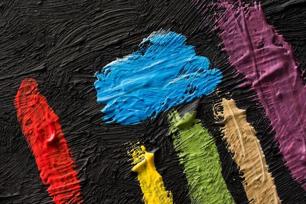 Abstracte schilderkunst achtergrond. behang voor een schilderententoonstelling of verffabriek