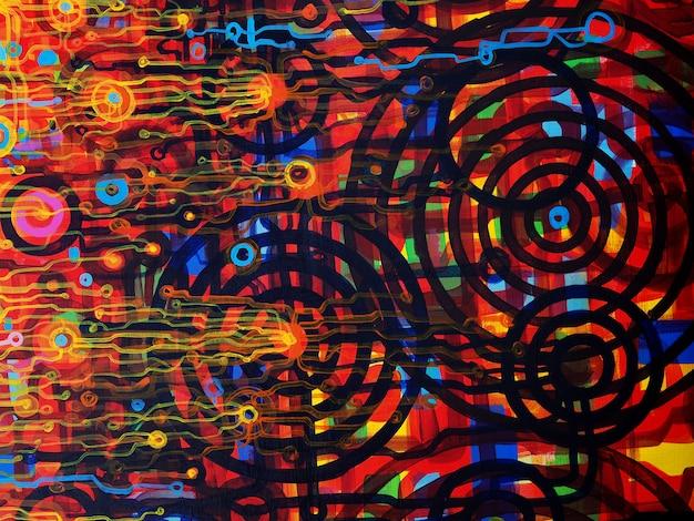 Abstracte schilderkunst achtergrond met textuur.