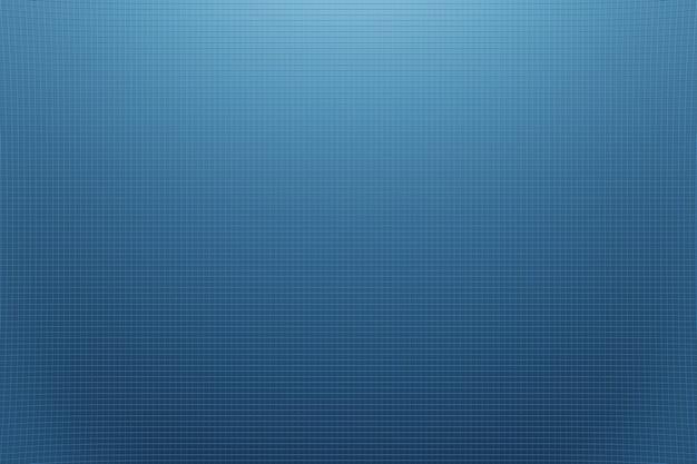 Abstracte sci-fi hologram blauwe golven deeltjes achtergrond 3d-rendering