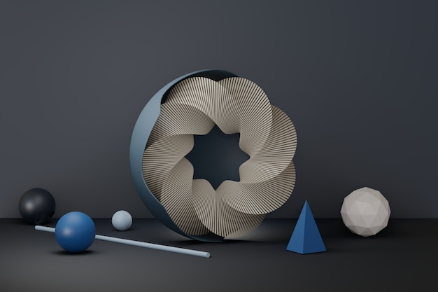 Abstracte stand 3d-rendering