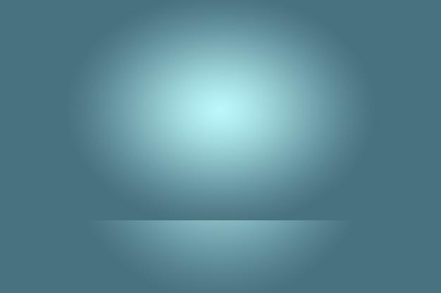 Abstracte studio achtergrondtextuur van lichtblauwe en grijze gradiëntmuur, vlakke vloer. voor product.