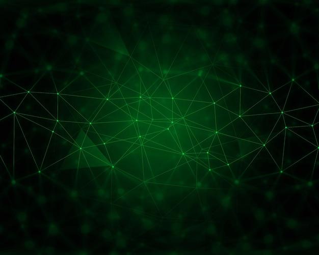 Abstracte techno achtergrond met verbindende lijnen